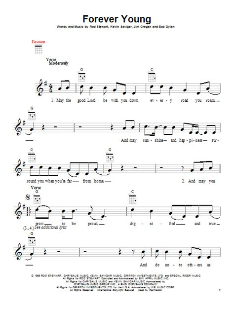 Forever Young   Sheet Music Direct