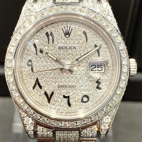 Rolex Datejust II Iced Out - Arabic Dial - unworn
