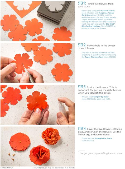 Stampin Up - Stampin Up Scrunched Flower Ad - Post By