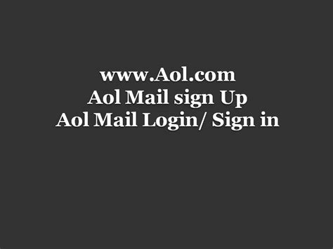 AOL Mail Login   AOL Sign In And Sign Up At Www