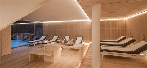 Swimming pool and relaxation room at Rosa Alpina