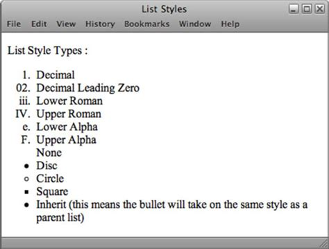 List and Extension Properties of Cascading Style Sheets