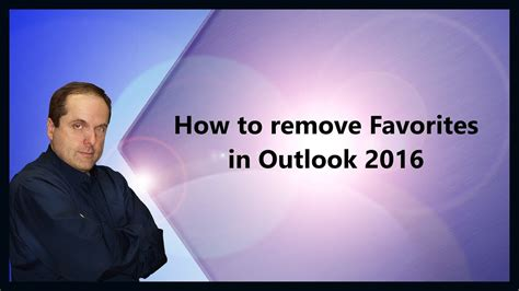 How to remove Favorites in Outlook 2016 - YouTube