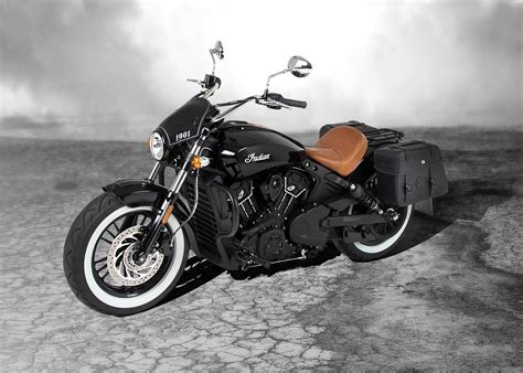 C-Bow sidecarrier - black for Indian Scout / sixty from 2015