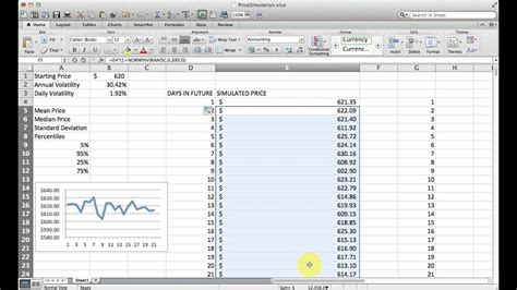 How to Simulate Stock Price Changes with Excel (Monte